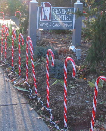 candy cane lawn ornament